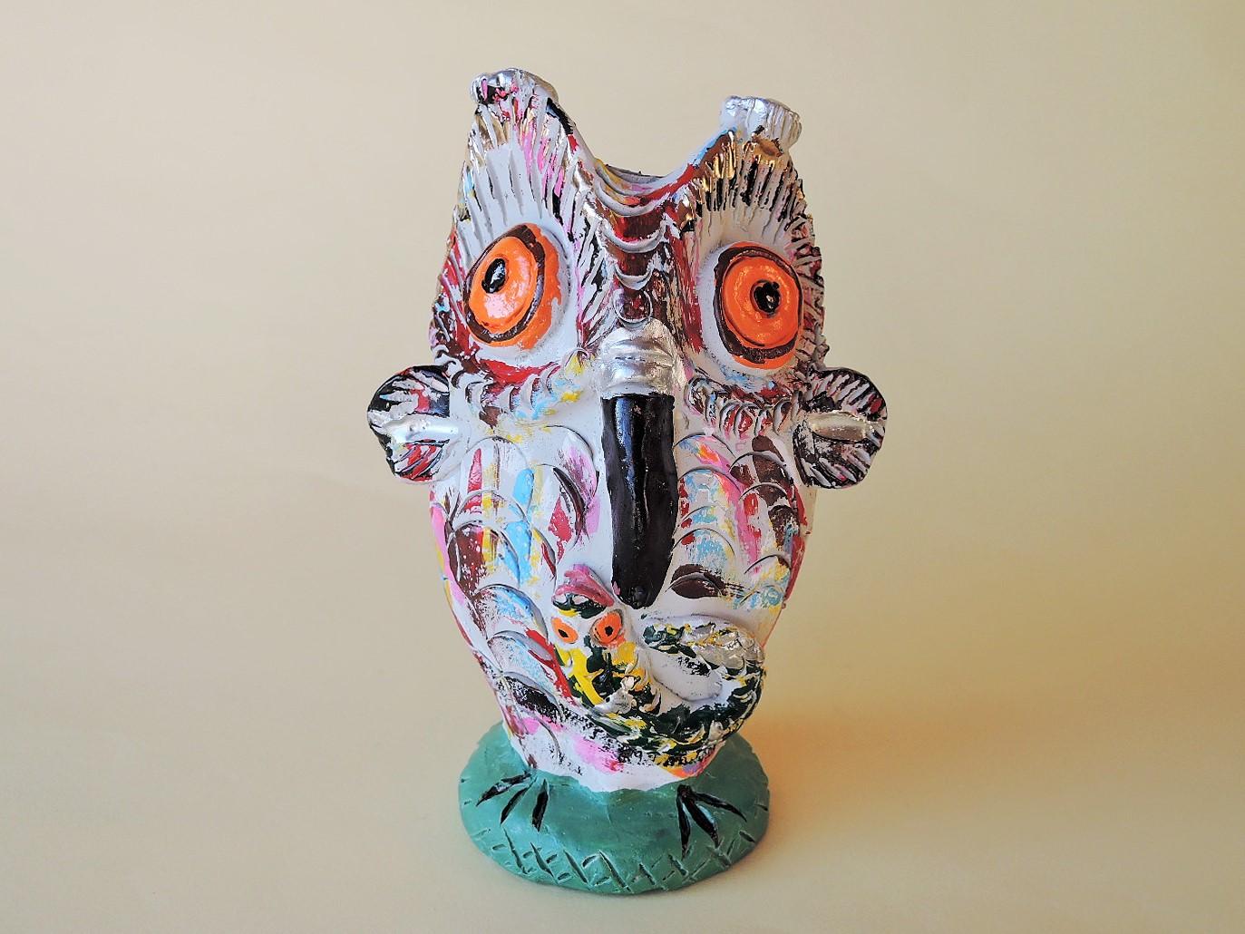 ポルトガル陶器 フクロウの置物 JuliaCota作品