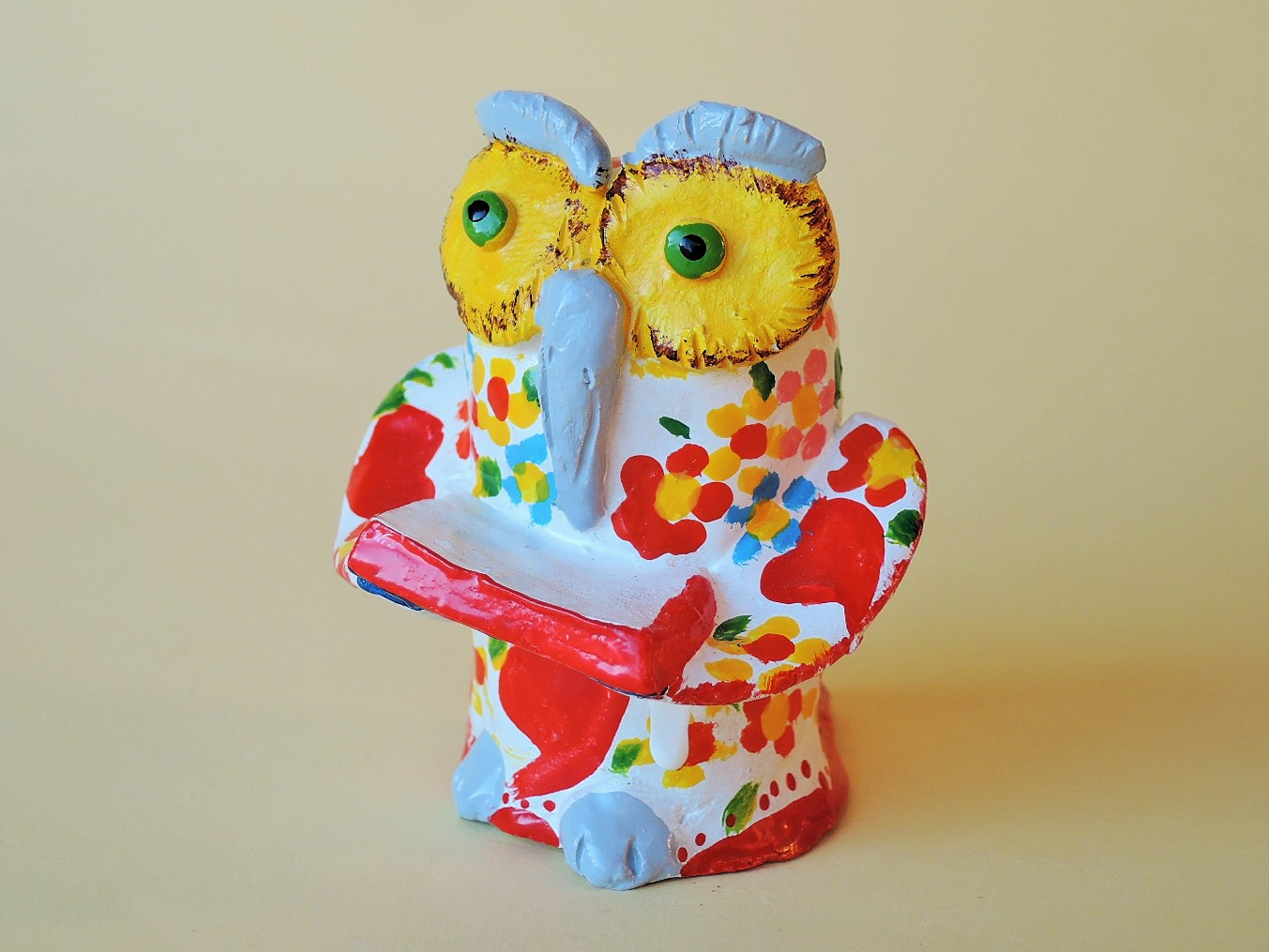 ポルトガル陶器 知恵の象徴 フクロウの置物 ジョアンフェレイラ