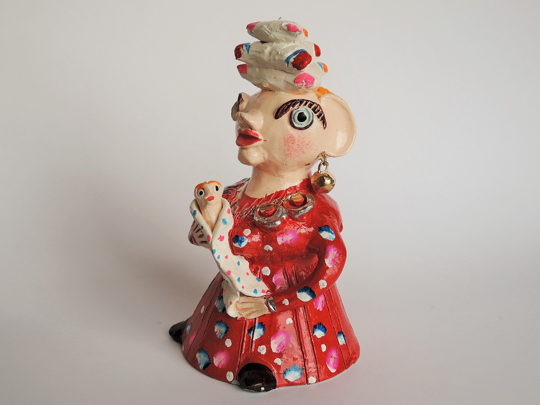 JuliaCota(ポルトガル)陶器人形 子供を抱く母
