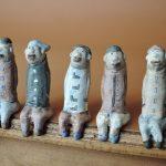 門脇美香江さんのお座り陶人形 のんびりパパたち