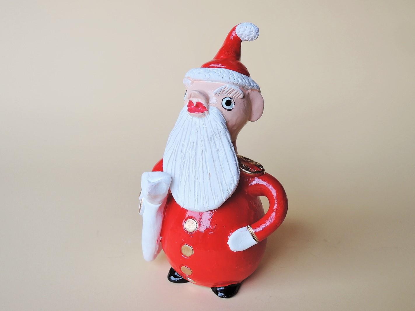 ポルトガルのクリスマス サンタクロースの陶人形 Prazeres Cota作品