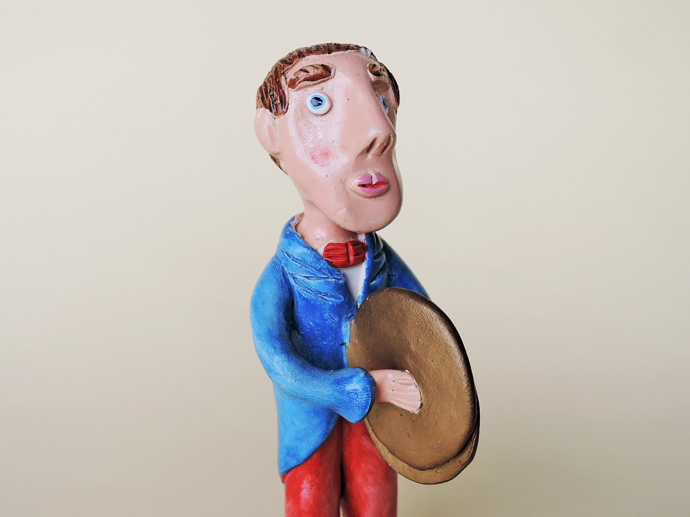 ポルトガル陶人形 Joao Ferreira シンバル奏者