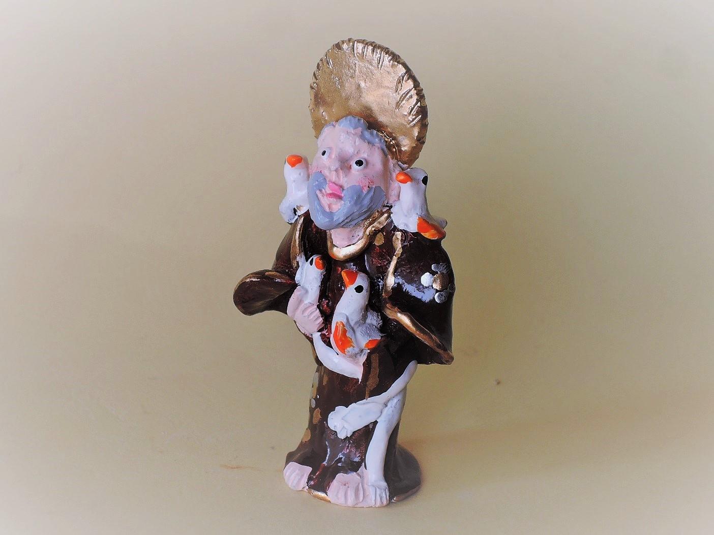 聖フランシスコ Joao Ferreira作品 ポルトガル陶人形